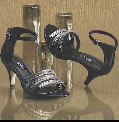 NEW WOMENS MIDNIGHT VELVET BLACK LACE /& FEATHER PUMPS HEELS SHOES SIZE 10M 10 M