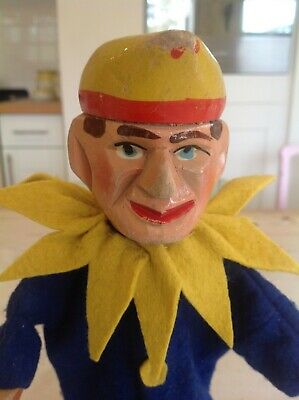 Antique wooden Punch and Judy puppet,Punch ,wooden toy puppet.
