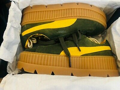 pick up f62a8 e826e NEW WOMEN'S PUMA Cleated Creeper Suede Fenty Rihanna Sneaker-MSRP $160 Size  7.5