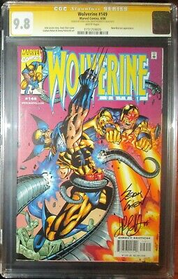 Wolverine (1988) 149 CGC SS 9.8 Near Mint/MT  New Warriors app  double signed