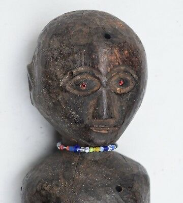 orig $799 TANZANIAN NYAMWEZI FIGURE, BEADS EARLY 1900S 12 PROV