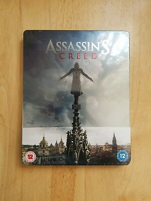 New Sealed! Assassins Creed Blu-ray Limited Edition SteelBook Region 2 3D