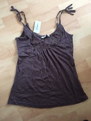 New Brown Primark Vest Top Strappy Cami Size 8-10 Summer Blouse Evening Boho