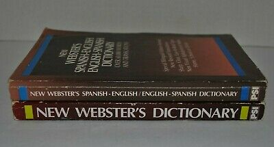 1992 New Webster's Spanish English English Spanish and New Webster's Dictionary