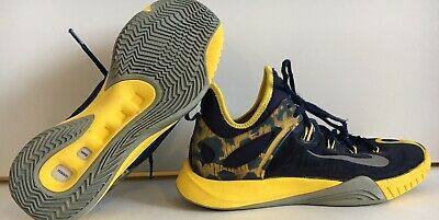 5a2271d9e7d6 NIKE MENS ZOOM Hyperrev Paul George Blue   Yellow Sz 8 Shoes 705370 ...