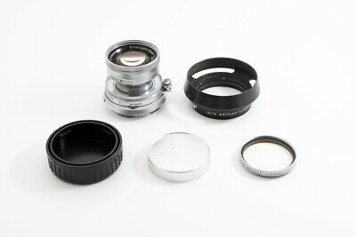 *1953* Leica Summicron-M Collapsible 5cm f/2 (With Leitz Uv filter & Hood)!!
