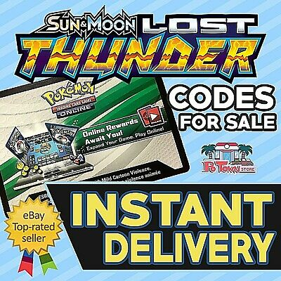 50 x Lost Thunder TCGO PTCGO TCG Online Game Unused CODES Automatic Delivery!