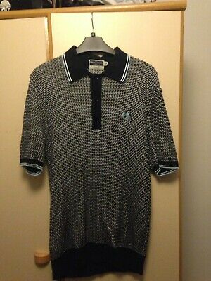 84236252d Fred Perry Reissues Knitted Polo Shirt Knit Mod Laurel Wreath 40 Medium