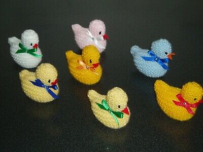 HAND KNITTED EASTER CHICKS  x 7