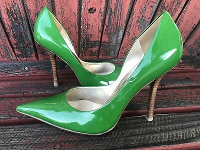 d67b6839ded  gREeN PaTeNT Sz 9.5 Leather Pointy Toe CARRIE Stiletto Heels PUMPs GuESS