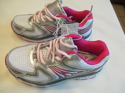 669e38ed57a NEW C9 by Champion Girls Youth Tennis Shoes Size 1 SIlver and pink