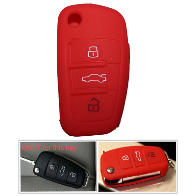 Tuqiang® 1x Red Key Cover Case Fob Audi Colourful Protective Silicone Shell...