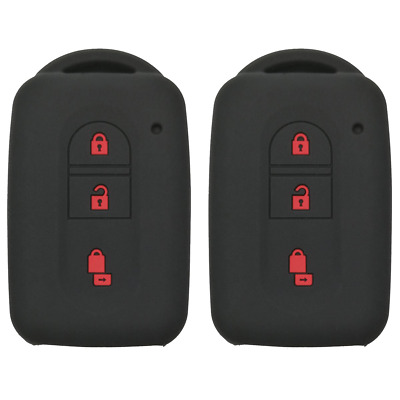 Coolbestda 2Pcs Rubber 3buttons Key Fob Protector Remote Skin Cover Case...