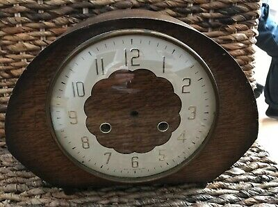 Vintage Wooden Mantle Clock Case Face (Smith Made In England)