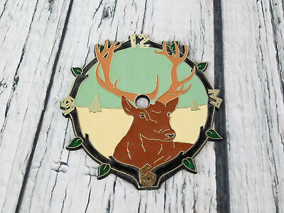 "RAMAR Vtg Clock Face Deer Buck 5.75"" Plastic Self-Stick Enamel"