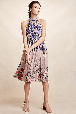 33f6bde94c0e NWT ANTHROPOLOGIE HIBISCUS Dare Midi Dress By Leifnotes Sz 2 ...