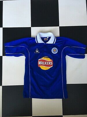 1f596e7cf96 Leicester City Football Shirt Walkers Home Jersey 1998 Le Coq Sportif