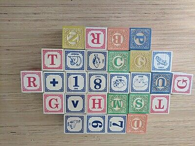 Uncle Goose Wooden Blocks Made In USA Set Of 28 English