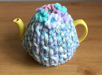 Hand Knitted Cabled Tea Cosy