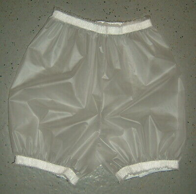pvc bloomer  pants adult baby milkywhite transparent strong pvc seams sealed