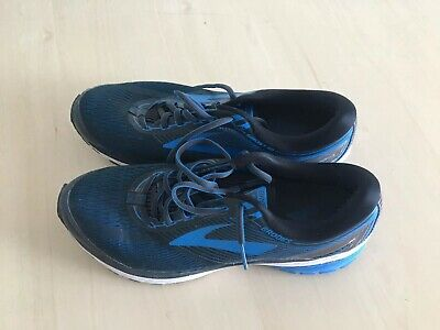 833262061fd MENS BROOKS GHOST 10 Running Shoes Ebony Charcoal Electric Blue ...