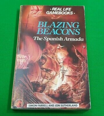 Blazing Beacons ***RARE!!*** Real Life Gamebooks Jon Sutherland Dragon #2