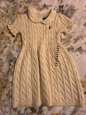 Brand new girls knitted Ralph Lauren cream dress 18mths