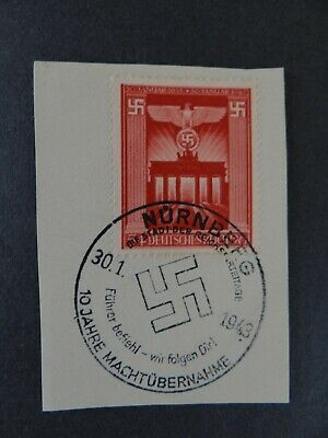Briefmarken Deutsches reisch Brandenburg Gate with Reich-Eagle mit Stempel