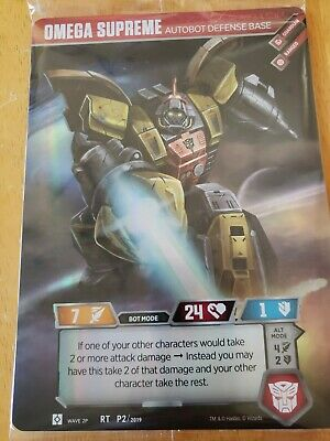 Transformers TCG Omega Supreme Loot Crate Promo Card! Mint Unopened!