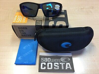 20dc31d8f27 New Costa Del Mar Sunglass Tuna Alley Ta-11 Matte Black   580P Blue Mirror