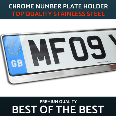 1 x Luxury Chrome Stainless Steel Number Plate Holder Surround Frame for Seat