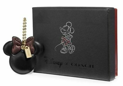Coach Disney X Minnie Mouse Pink Bow Leather Hang Tag Boxed Set  Style 39011B NW