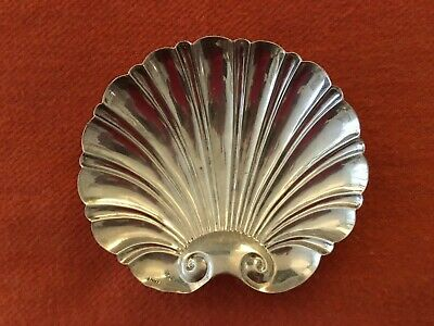 Spanish silver plate scallop shaped footed ashtray or dish