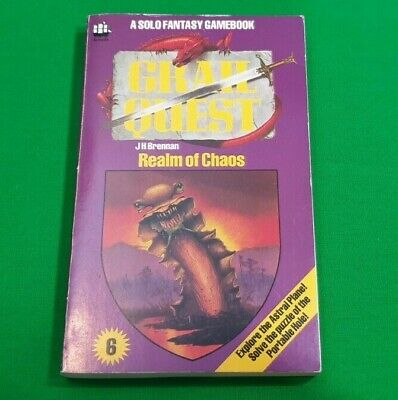 Realm of Chaos ***VGC!!*** Grail Quest 6 J H Brennan Fighting Fantasy Armada #1
