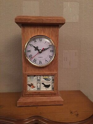 Solid Oak Mantel Clock