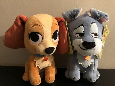 "Disney Parks Exclusive TRAMP Plush FURRYTALE FRIENDS Small 8"" Dog Lady NEW"