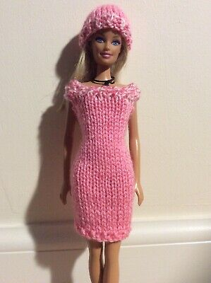 Barbie Doll Hand Knitted Dress/clothes