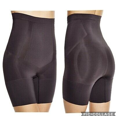 3962aad165ef74 SPANX BLACK ONCORE High Waisted Mid Thigh Shaper Women's Size Large ...