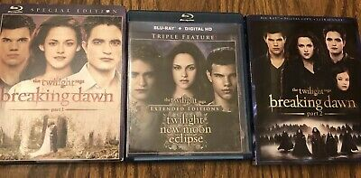 The Twilight Saga Complete Collection Blu Ray Breaking Dawn Part 2 Lot