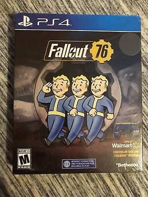 Fallout 76 EXCLUSIVE Edition w/ SteelBook & Controller Skin! PlayStation 4 NEW!!