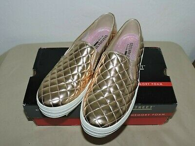 db282d0da6c Skechers Double Up Duvet Slip-On Rose Gold Women s Size 9.5 Shoes Sneakers