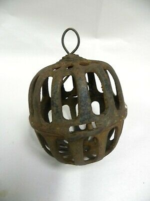Antique Vtg Hanging Cast Iron General Country Store String Twine Holder (A13)