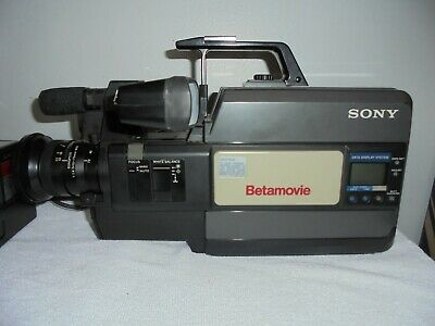 Sony Betamax Betamovie BMC-550 Video Camcorder with Battery and Charger