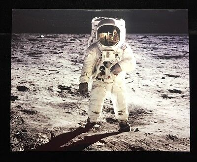 Frameable Postage Stamp Art 100% Quality Apollo 11 Astronaut Footprint On Moon 0728