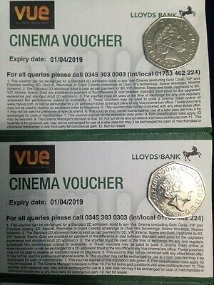 2 X VUE  Cinema Tickets/ E Codes - Includes London - INSTANT Delivery By Message