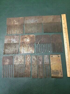 Lot of Antique Wood Graining Tool Painting Faux Graining Combs