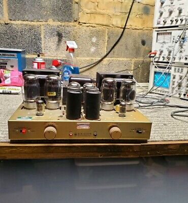 Hh Scott Lk-150 Stereo Tube Amplifier Tested New Caps Tubes Not Included