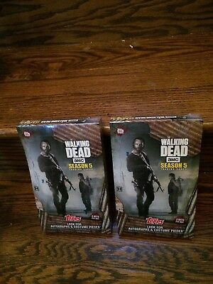 TWO 2016 Topps Walking Dead Season 5 Factory SEALED Trading Card HOBBY Boxes