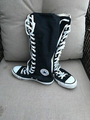 42f2d19c4bf1 Converse All Star Women s ZipUp Lace Chuck Taylor Knee High Top Sneakers  Size 7