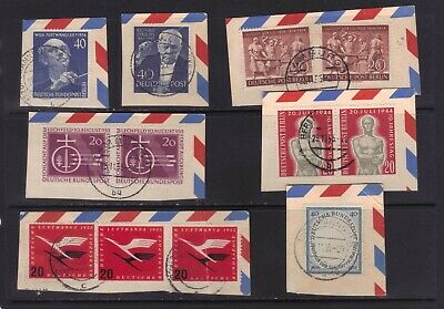 stamps Germany Berlin and other on paper  CV50$